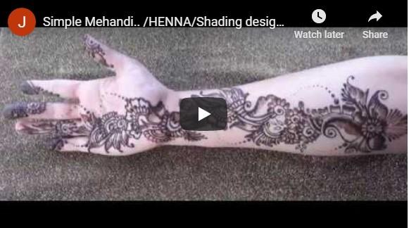 മെഹന്ദി ഡിസൈൻ: Simple Mehandi.. /HENNA/Shading designs..